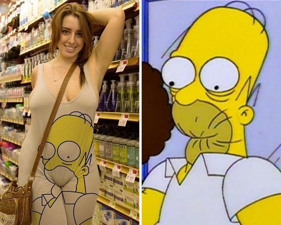 Homer Simpsons-klänningen