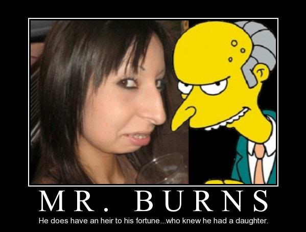 Lika som bär - Kvinna och Mr Burns i Simpsons