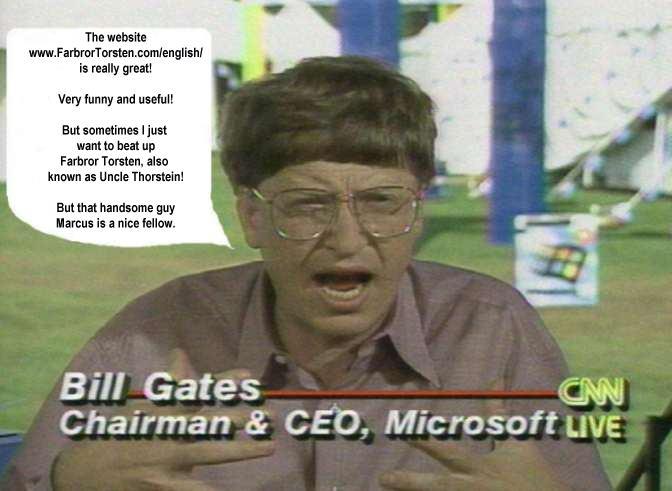 Bill Gates kommenterar Torsten i CNN LIVE 2003.