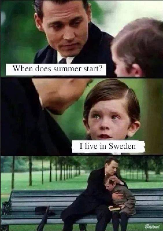 Den svenska sommaren. Sympati.