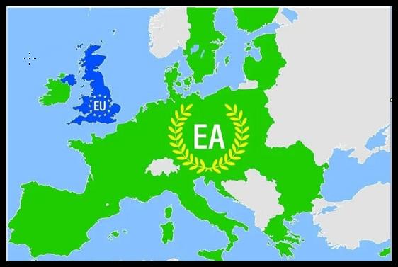 EU lämnar Storbritannien