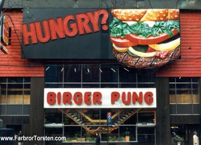 Snuskiga och roliga namn i form av snabbmatstället Birger Pung.