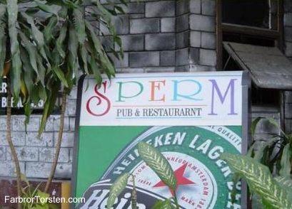 Ett av många roliga restaurangnamn är detta.